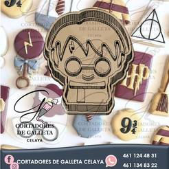 harry potter.jpg Download STL file HARRY POTTER COOKIE CUTTER • 3D printing object, OmarRivera