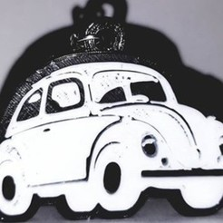 Download free 3D printer designs key chain, key ring, Volkswagen, Vocho, OmarRivera