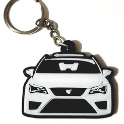 Download free STL files SEAT key ring, key chain SEAT, OmarRivera