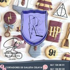 ESCUDO R.jpg Download STL file HARRY POTTER COOKIE CUTTER SHIELD • 3D print template, OmarRivera