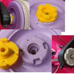 Download free 3D printing models Wheel coupling for a child's cart, user-jean