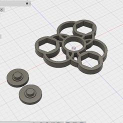 3d printer model fidget spinner, Leedoing