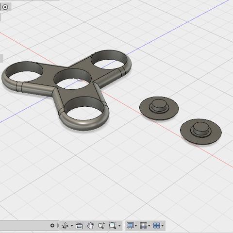 picture1.PNG Download STL file fidget spinner • 3D printer design, Leedoing