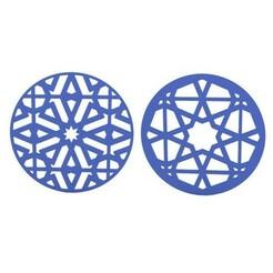 1.jpg Télécharger fichier STL Dessous de verre • Modèle à imprimer en 3D, 3dprinting4U