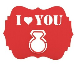 Bez nazwy-1.jpg Download free STL file Love card with pop out ring • 3D printer template, 3dprinting4U