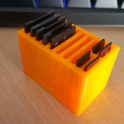 Download free 3D print files Memory card holder SD and microSD, Drawer3d