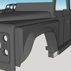 Free 3D printer designs Fender  for Land Rover Defender 110 , ildarius2017