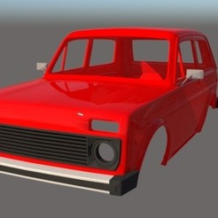 002.jpg Download STL file Lada Niva 1/10 Body Wheelbase 242 mm • 3D printable template, ildarius2017