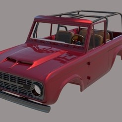 Download 3D printing models Ford Bronco 1975 Tuned with interrior, ildarius2017