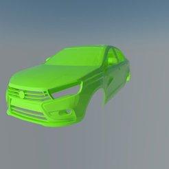 001.jpg Download STL file Lada Vesta • 3D printing object, ildarius2017