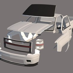 Download STL file Chevrolet Silverado V2, ildarius2017