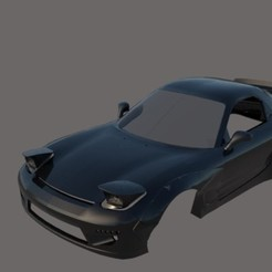 002.jpg Télécharger fichier STL gratuit Mazda RX-7 Rocket Bunny • Objet à imprimer en 3D, ildarius2017