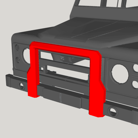 2019-06-15_09-14-15.png Download free STL file Bump for Land Rover Defender 110  • 3D print object, ildarius2017