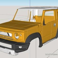 001.jpg Download STL file Suzuki Jimny (mk4 jb74) Sierra Pickup 2019 Body • 3D print template, ildarius2017