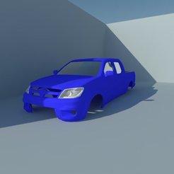 Modelos 3D para imprimir Toyota Hilux Vigo 1/10 Cuerpo, ildarius2017