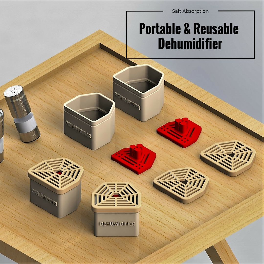 Salt Absorption.png Download free STL file Low Cost Portable & Reusable Dehumidifier • 3D printable design, Mr_AD_Toth