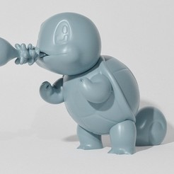 Descargar archivo 3D SQUIRTLE ATTACKING (PART OF THE SQUIRTLEPACK, AND EVOPACK, READ DESCRIPTION), ShadowBons