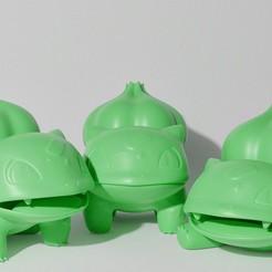 0B99F712-88F1-4996-ACF7-826DDD3CCFC1.JPG Download STL file BULBASAUR 3 PACK (PART OF THE BULBASAUR-EVO-PACK, READ DESCRIPTION) • 3D printer model, ShadowBons