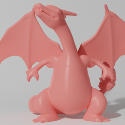 charizard 2 1.png Download STL file CHARIZARD STANDING (PART OF THE CHARIZARDPACK, AND CHAREVOPACK, READ DESCRIPTION) • 3D print object, ShadowBons