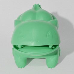 Download 3D printer designs BULBASAUR SITTING (PART OF THE BULBASAURPACK, AND EVOPACK, READ DESCRIPTION), ShadowBons