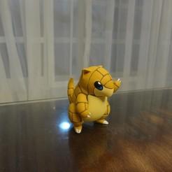 Descargar diseños 3D gratis Sandshrew Pokemon EDLI3D, ShadowBons