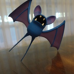 Descargar Modelos 3D para imprimir gratis Zubat Pokemon EDLI3D, ShadowBons