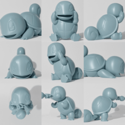 Download STL file SQUIRTLE 3 PACK (PART OF THE SQUIRTLE-EVO-PACK, READ DESCRIPTION), ShadowBons