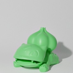 Download 3D printer model BULBASAUR LYING (PART OF THE BULBASAURPACK, AND EVOPACK, READ DESCRIPTION), ShadowBons