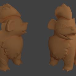Descargar diseños 3D gratis Grrowlithe Pokemon EDLI3D, ShadowBons