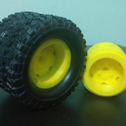 3d print files dual tires for 1/16 wpl, JavierLarre
