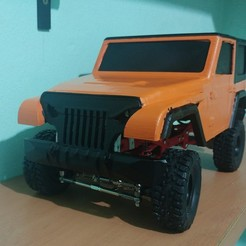 Download 3D printer templates jeep for WPL 1/16, JavierLarre