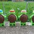 Modelos 3D para imprimir gratis Lego Ninja Turtle para lego duplo, boloballs