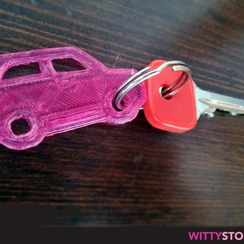 Download 3D printer model Super Car Keyring, TheWittystore