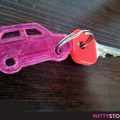Super Car Keyring 3D printer file, MrWittystore