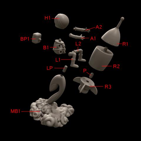 6.png Download free STL file Stratomaker Mascot • 3D printing template, GGR2
