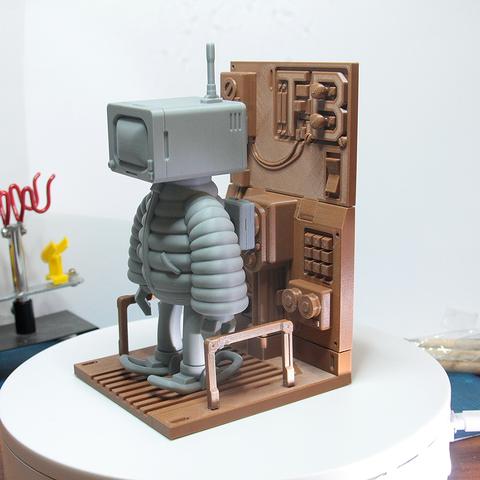 Modelos 3D Estación de mantenimiento y carga para THUGBOT (el robot se vende por separado), LaruanLab