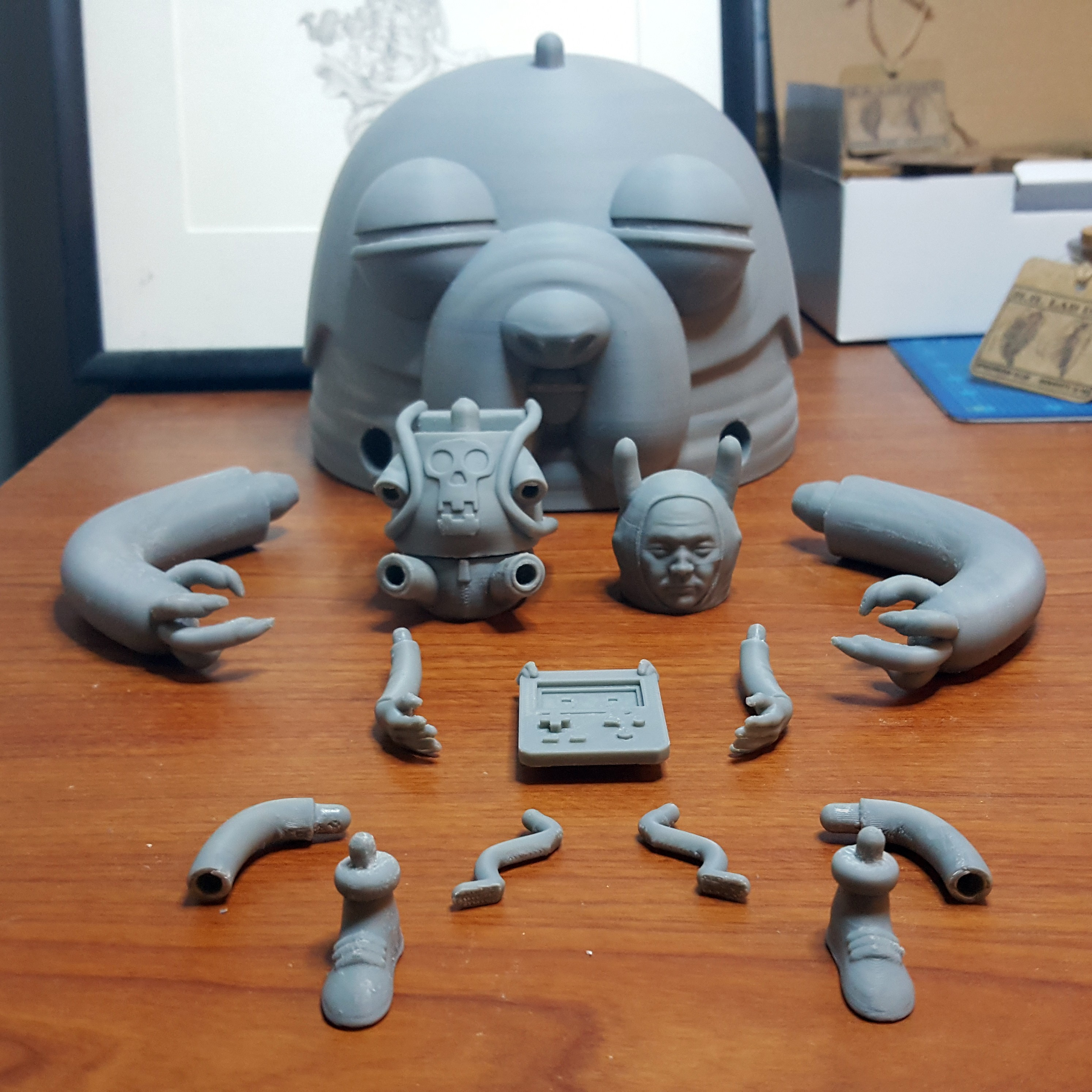 parts.jpg Download free STL file Adventure Time Fan Art with secret storage • 3D printing template, GGR2