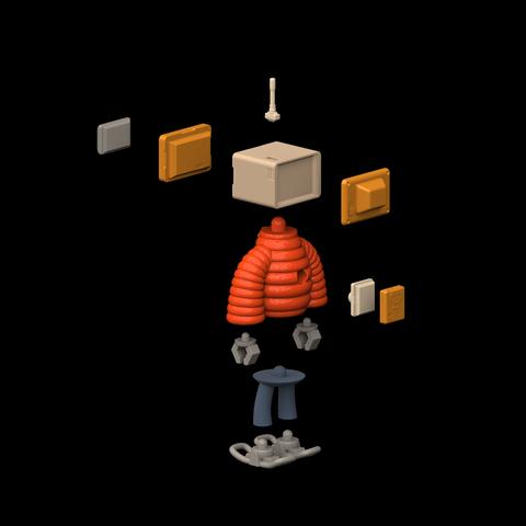 parts2.png Download STL file T.B (Thug Bot) • 3D printing model, GGR2