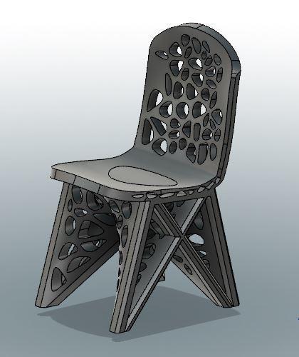 WASP for Voronoi Chair.JPG Download STL file #3DSPIRIT Voronoi Chair • 3D printable design, IanFabStudio