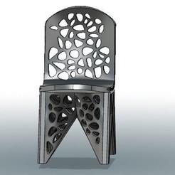 archivos stl Silla Voronoi #3DSPIRIT, IanFabStudio