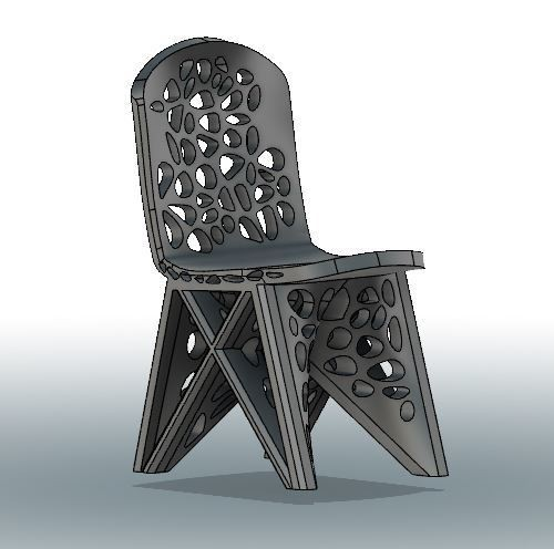 WASP for Voronoi Chair 3.JPG Download STL file #3DSPIRIT Voronoi Chair • 3D printable design, IanFabStudio