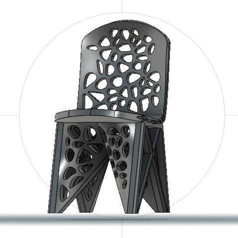WASP for Voronoi Chair 2.JPG Download STL file #3DSPIRIT Voronoi Chair • 3D printable design, IanFabStudio