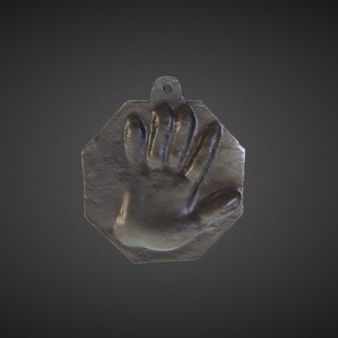 Free 3D model Cast Imprint of the Left Hand of Peter I, ArmsMuseum