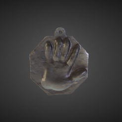 Download free 3D printing templates Cast Imprint of the Left Hand of Peter I, ArmsMuseum