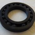 Download free SCAD file Parametric Bearing • 3D print model, kevfquinn