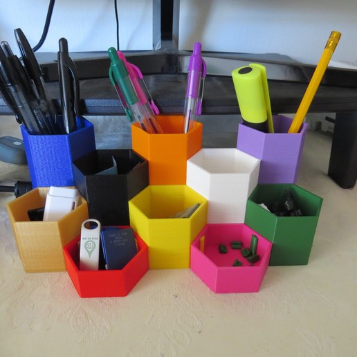 desk_tidy.jpg Download free SCAD file Modular Desk Tidy • Design to 3D print, kevfquinn
