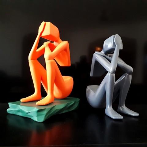 20180329_123709.jpg Download STL file Thinker • 3D print design, iradj3d