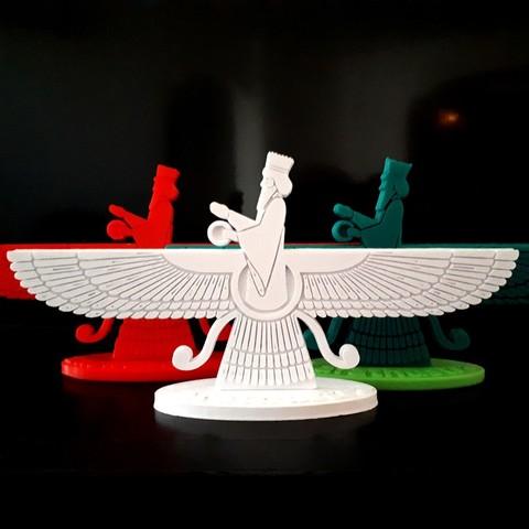 20180329_162656.jpg Download STL file Faravahar • 3D printable design, iradj3d