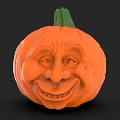 Télécharger plan imprimante 3D Pumpkin Sad&Happy, iradj3d
