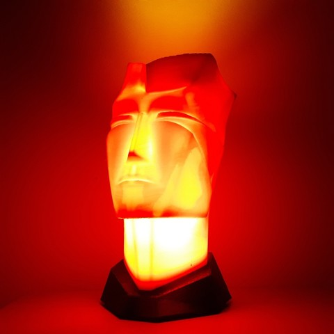 20180322_234739.jpg Download STL file Man head table lamp • 3D printable design, iradj3d